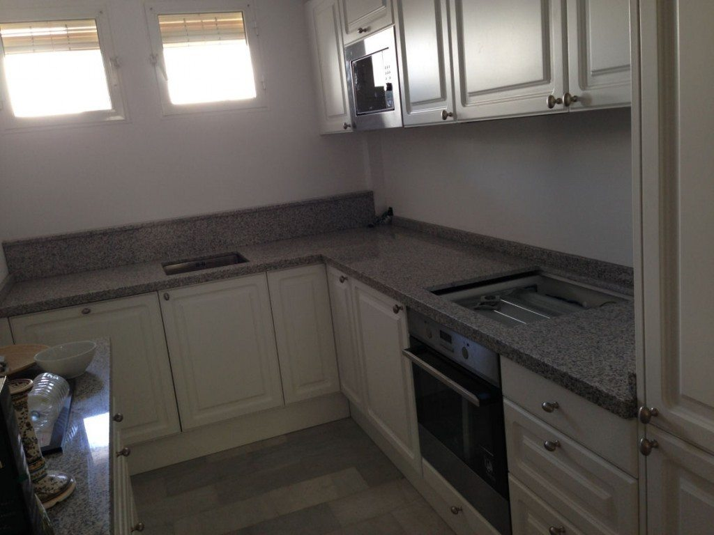 Nordic Muebles Small L shaped White Kitchen with Granite - Final 3